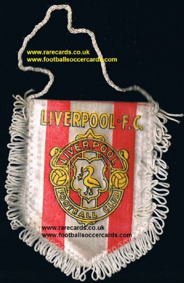 1972 Prescott Liverpool mini pennant from sweets packet, about 3x2 inches